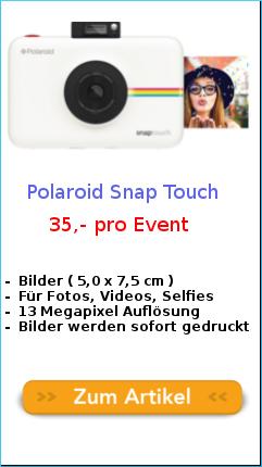 snap Touch Polaroid kamera leihen